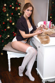 Christmas Cums Early For Alexis Crystal with Alexis Crystal