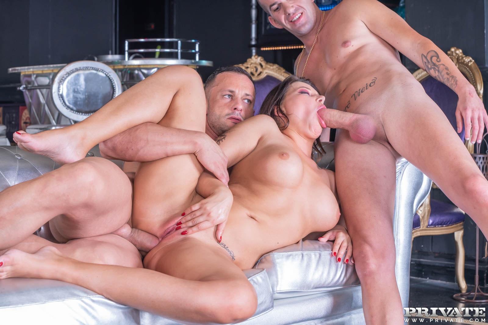 Biker Chick Anna Polina Enjoys Threesome Dp