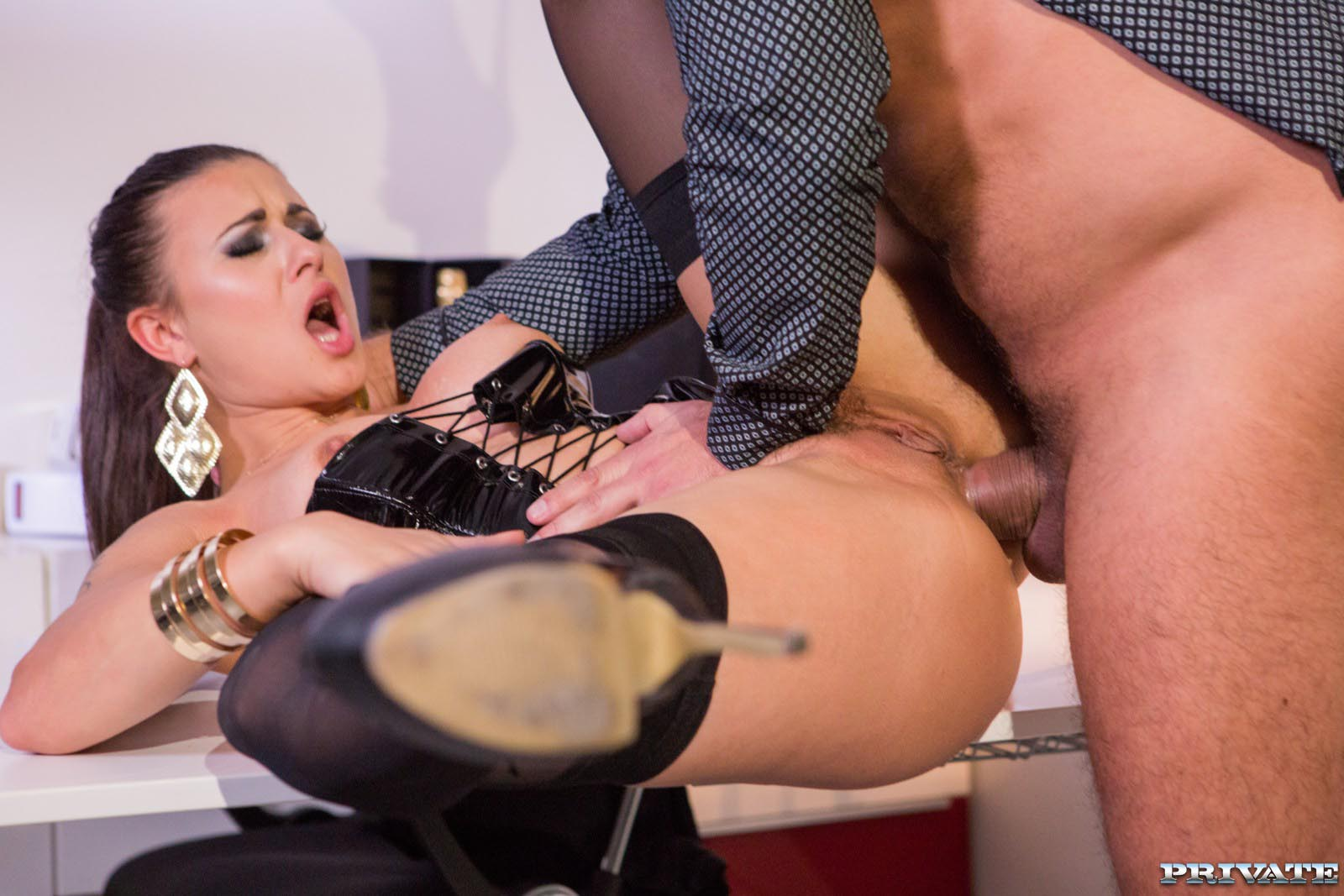 Billie Is Punished by the Boss with Hard Anal Sex 2 of 12