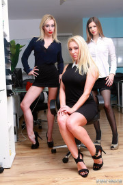 Busty Blonde Milf Chessie Kay Gets Nailed in the Office with Chessie Kay