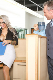Big Tit Office Chicks with Marcus London and Alyssa Lynn