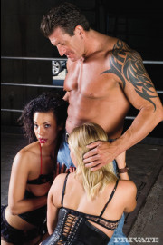 Fetish leather threesome with Adrianna Nicole and Desiree Diamond
