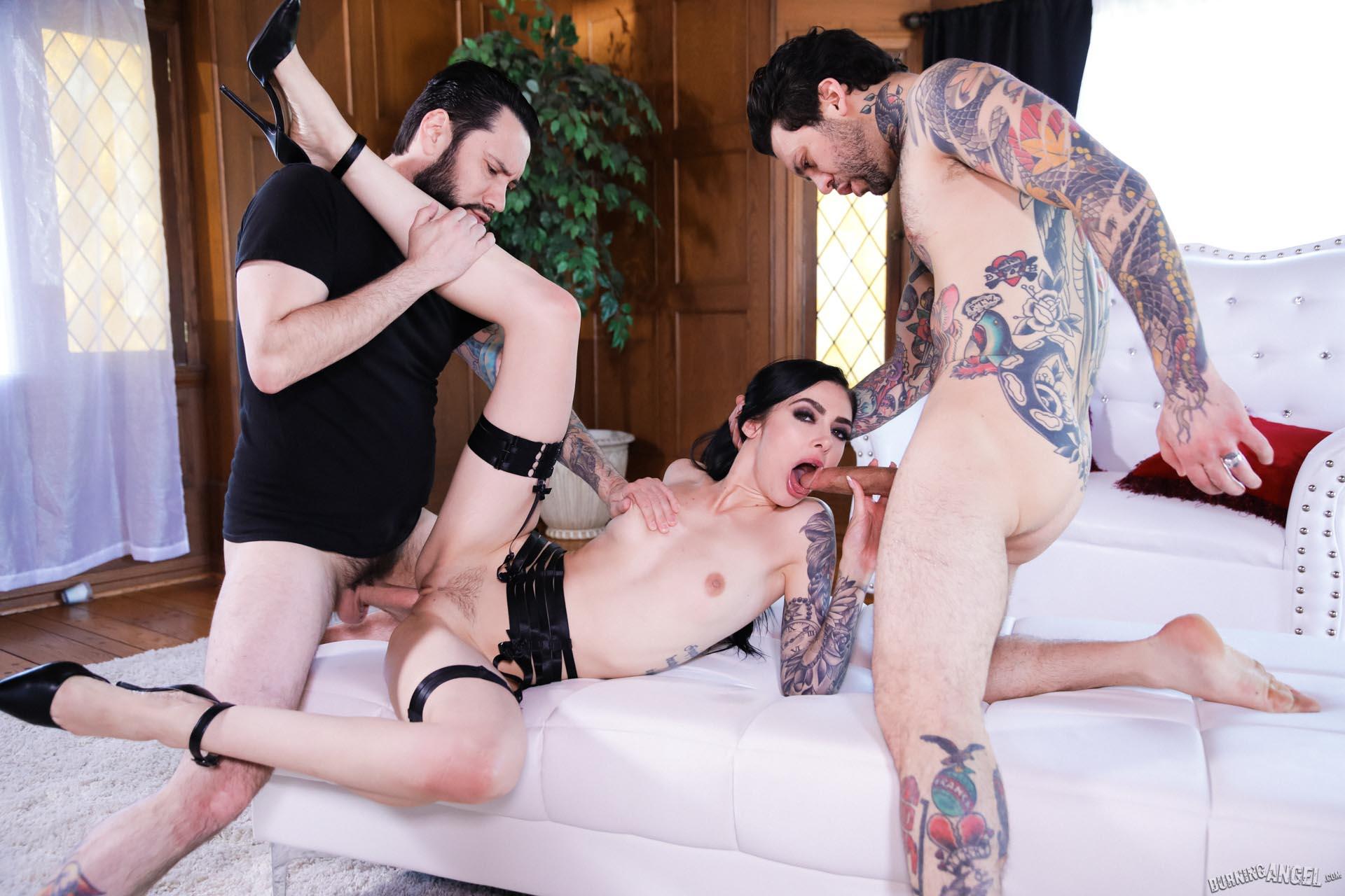 Goth Anal Whores 2 Marley Brinx Gets Dpd 7