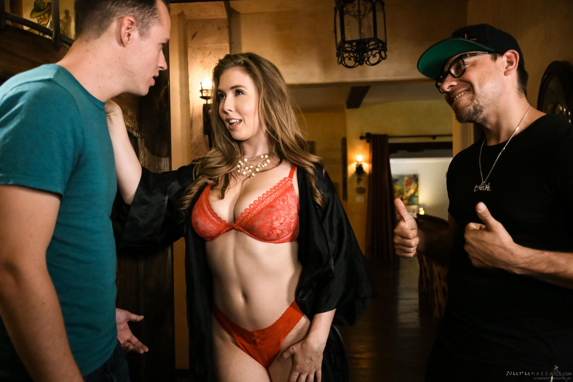 Nurumassage the confused nerd lena paul, justin hunt