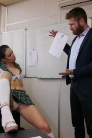 Lola Bulgari schoolgirl with Rick Angel, Doryann Marguet and Lola Bulgari