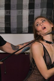 Ropes and humiliation in the store with Kira Parvati and Alberto Blanco