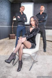 Freya Dee Debuts with Extreme DP Threesome with Angelo Godshack, Luca Ferrero and Freya Dee