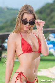 Alexis Crystal and Veronica Leal, Poolside Anal Threesome with Alexis Crystal and Veronica Leal