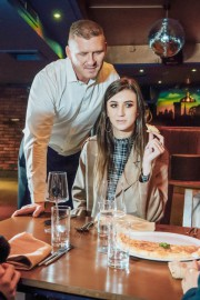 Lina Luxa and the Waiter with Lina Luxa