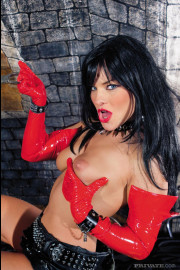 This latex queen is horny as hell with Lucy Love